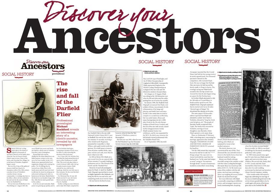 Discover Your Ancestors | Darfield Flier | Michael J. Rochford