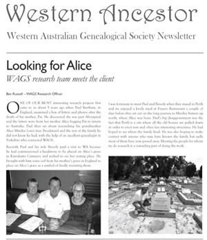 WAGS Looking for Alice