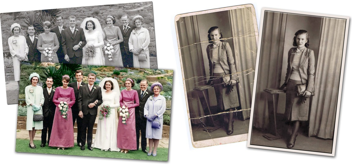 Old photograph restoration by Heir Line Ltd